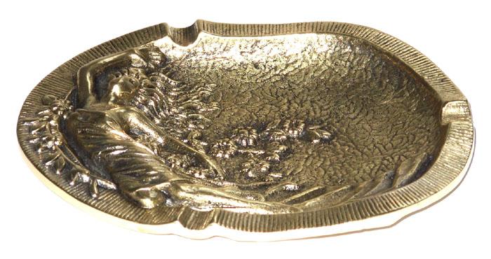 Cinzeiro Dama - Bronze Maciço  - Bronze Shop