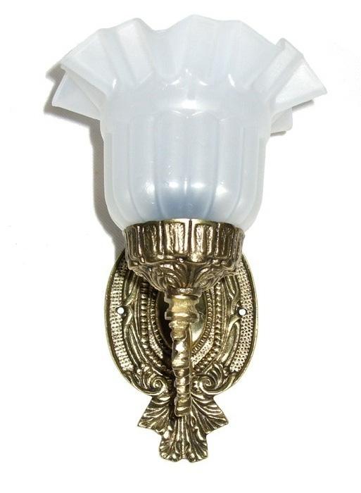 Arandela Luminária com Tulipa Inquebrável  ref:017  - Bronze Shop