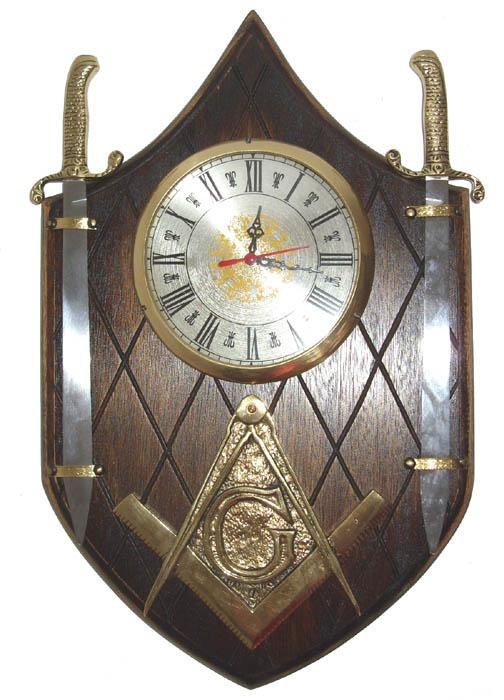 Relógio Brasão Maçonaria  - Bronze Shop