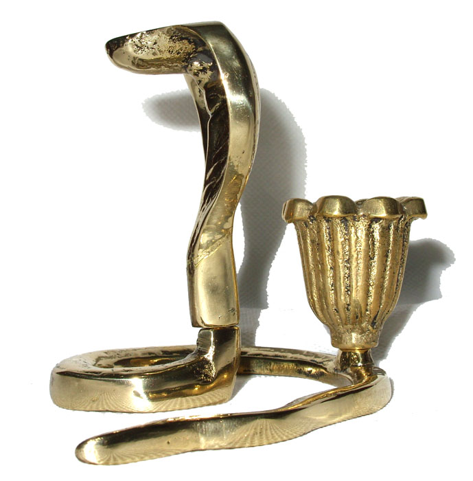 Castiçal Cobra Naja  - Bronze Shop