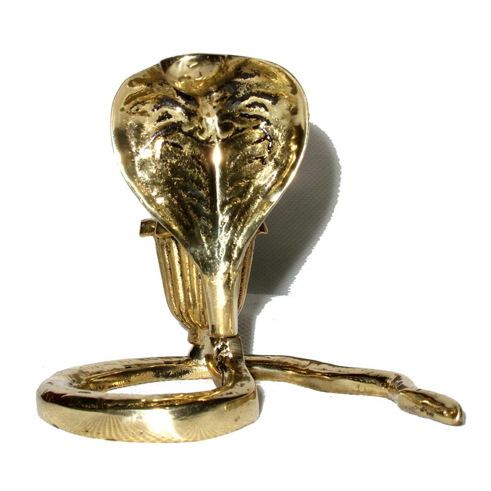 Castiçal Cobra Naja  - BronzeShop
