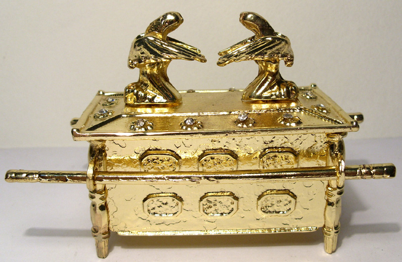 Arca da Aliança Dourada  - Bronze Shop