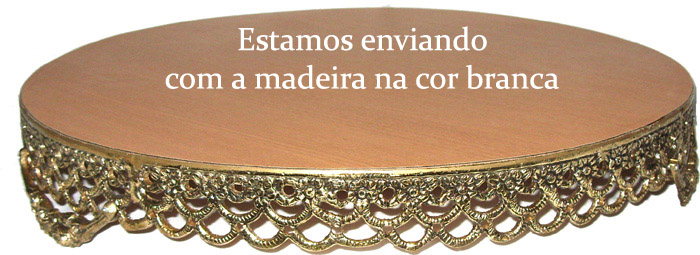 Porta-bolo baixo - Bronze Polido ref: 279/R  - Bronze Shop