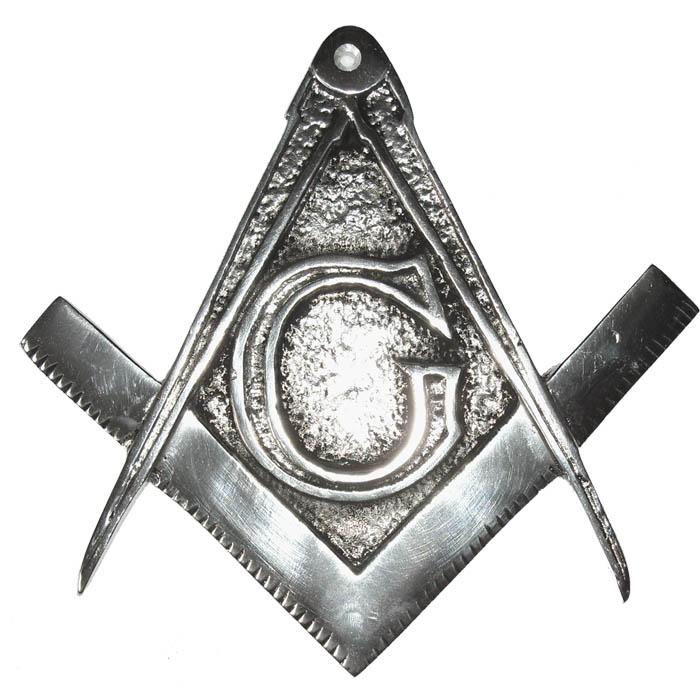 Brasão Maçonaria - Esquadro e Compasso - Aluminio  - BronzeShop