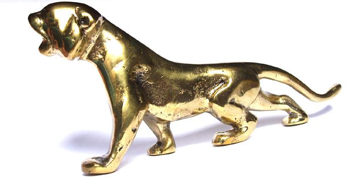 Estátua Tigre em Bronze Maciço  - Bronze Shop