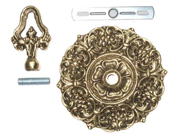 Suporte Plafonier Canopla Para Lustre  - Bronze Shop