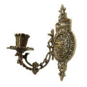 Castiçal de Parede ou Piano- 1 Vela -Bronze -  ref: 001
