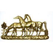 Porta Chaves 3 cavalos - Bronze  -   ref: 307