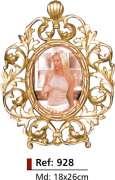 Porta-retrato Oval - Bronze -  ref: 928