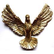 Escultura Pombo - Bronze Polido Brilhante - Rico em Detalhes