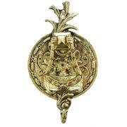 Batedor de Porta - Aldrava Européia - Tradicional Redondo - Bronze Maciço