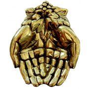 Saboneteira mãos com cacho de uva - Fino acabamento e rica em detalhes - Bronze maciço
