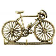 Porta Chaves Bicicleta - Bronze Maciço Polido 21x13 cm