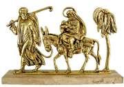 Escultura Fuga do Egito - Bronze - Tam: 36x23 cm
