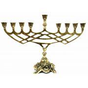 Chanukia - Candelabro de 9 Braços - Bronze Maciço