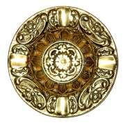 Cinzeiro Detalhes Grande - Bronze Maciço