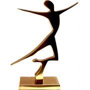 Estátua Dançarina - Bronze Maciço (16x11cm)