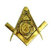 Brasão Maçonaria - Esquadro e Compasso - Bronze Maciço