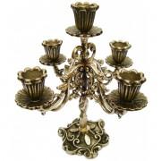 Castiçal Candelabro Para 5 Velas - Bronze