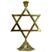 Castiçal Magen Estrela De Davi Para 1 vela