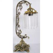 Abajur Luminária Colonial em Bronze Com Cristais