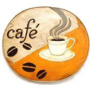 Placa em Resina Café