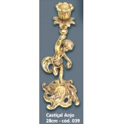 Castiçal Anjo Bronze