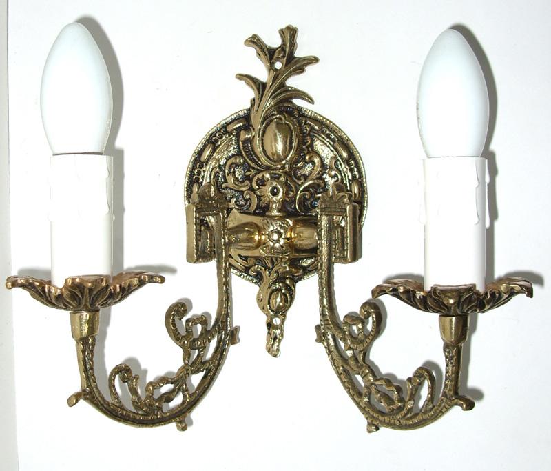 Arandela Castiçal Elétrico Em Bronze Para 2 Lâmpadas  - Bronze Shop