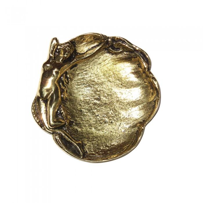 Saboneteira Moça - Bronze Maciço  - Bronze Shop