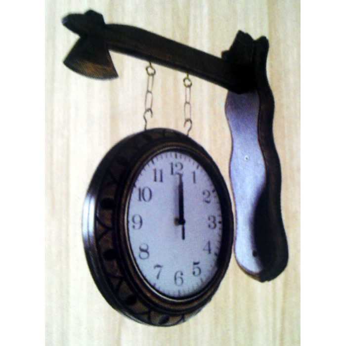 Relógio Dupla Face  - Bronze Shop