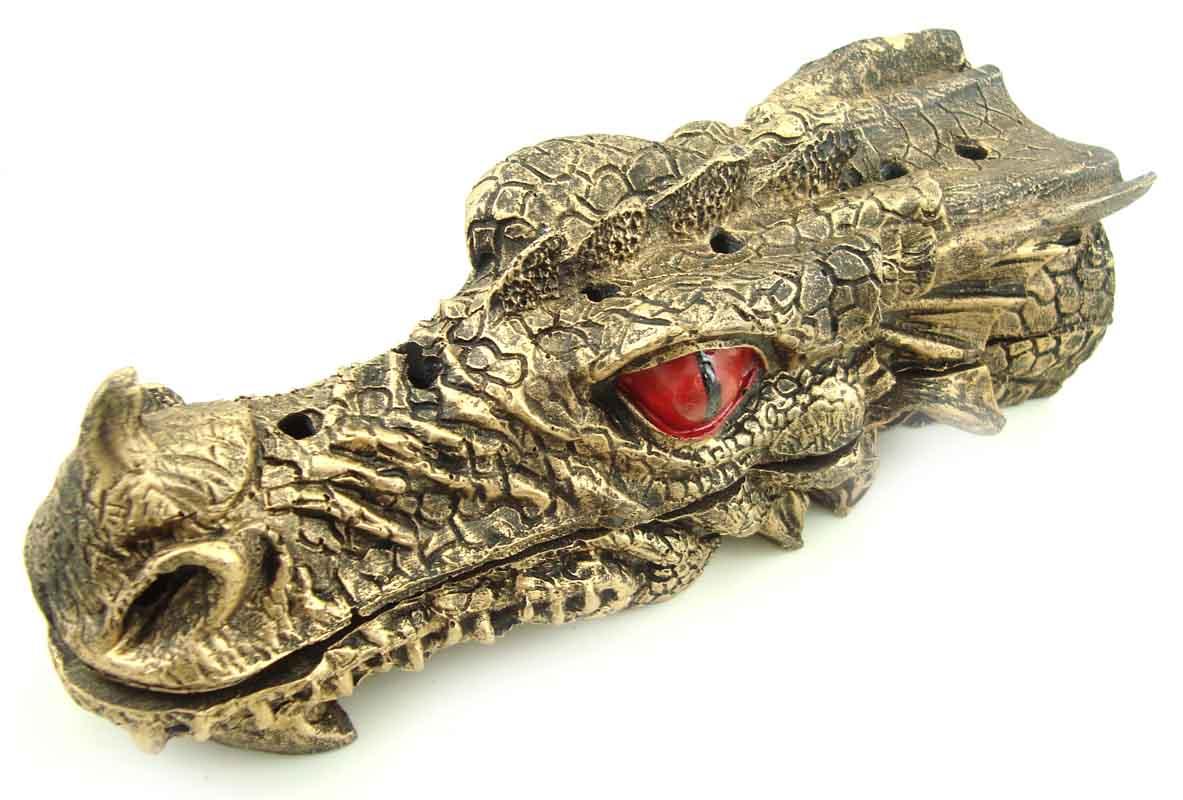Incensário Dragão em Resina  - Bronze Shop