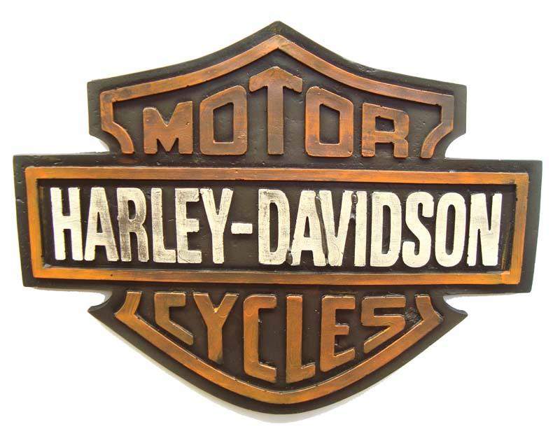 Placa Harley Davidson  - Bronze Shop