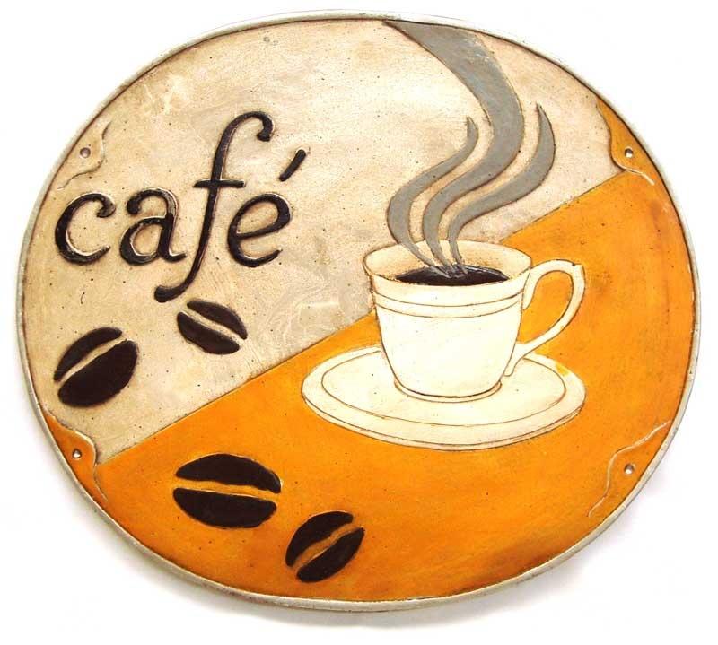 Placa em Resina Café  - Bronze Shop