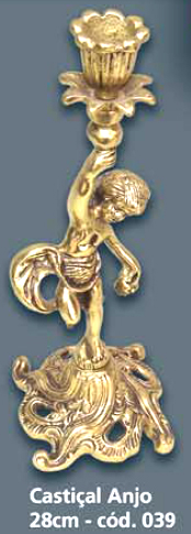 Castiçal Anjo Bronze  - Bronze Shop