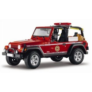 Jeep 1:18 Jeep Wrangler Fire Truck ( Vermelho ) - cod. 16939