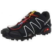 Salomon Mens Speedcross 3 Climashield Trail Running Shoe Speedcross 3 127609 - Black/Black/Silver Me