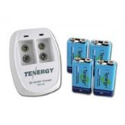 Bateria Recarreg�veis 9V com carregador Tenergy TN141 2 Bay 9V Smart Charger with 4 pcs 9V 250mah Ni