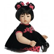 Boneca Adora Baby Doll, 20 inch �Black Velvet� Black Hair/Brown Hair