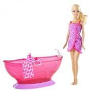 Barbie Bath Tub And Barbie Doll Playset - Frete Gr�tis