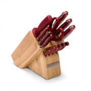 Jogo de Faca KitchenAid 12-Piece Target Handle-Natural Block, Red/Modelo B001CF4B16