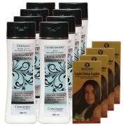 Kit com 4 shampoos 4 condicionadores 4 loções queda de cabelo