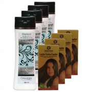 Kit com 4 shampoos e 4 loções antiqueda de cabelo Crescenew