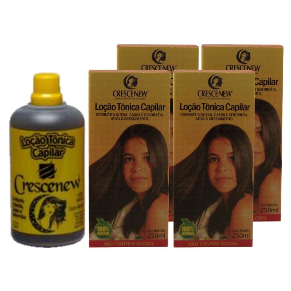 Kit com 1 shampoo, 1 condicionador e 4 loções antiqueda e crescimento de cabelos