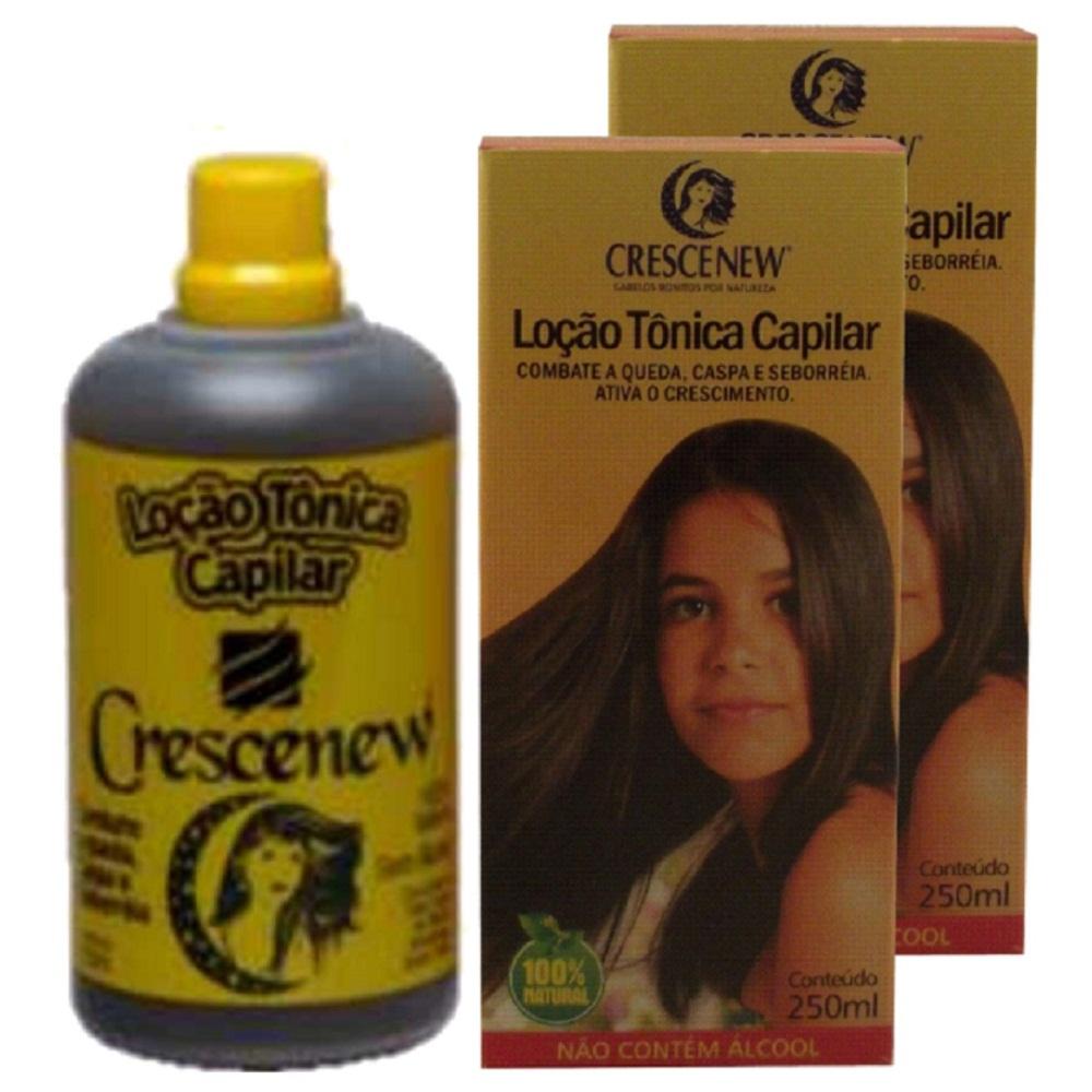 Kit com 2 Locao Tonica Capilar Para Crescimento Cabelo Crescenew