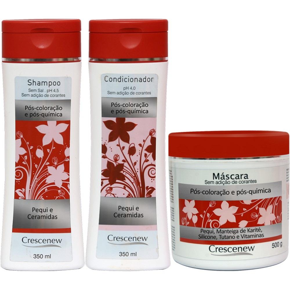 Kit Shampoo, condicionador e máscara hidratante cabelos tintos