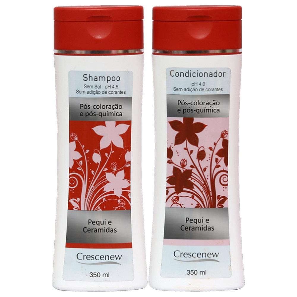 Kit shampoo e condicionador de cabelo tinto, tingido e descolorido
