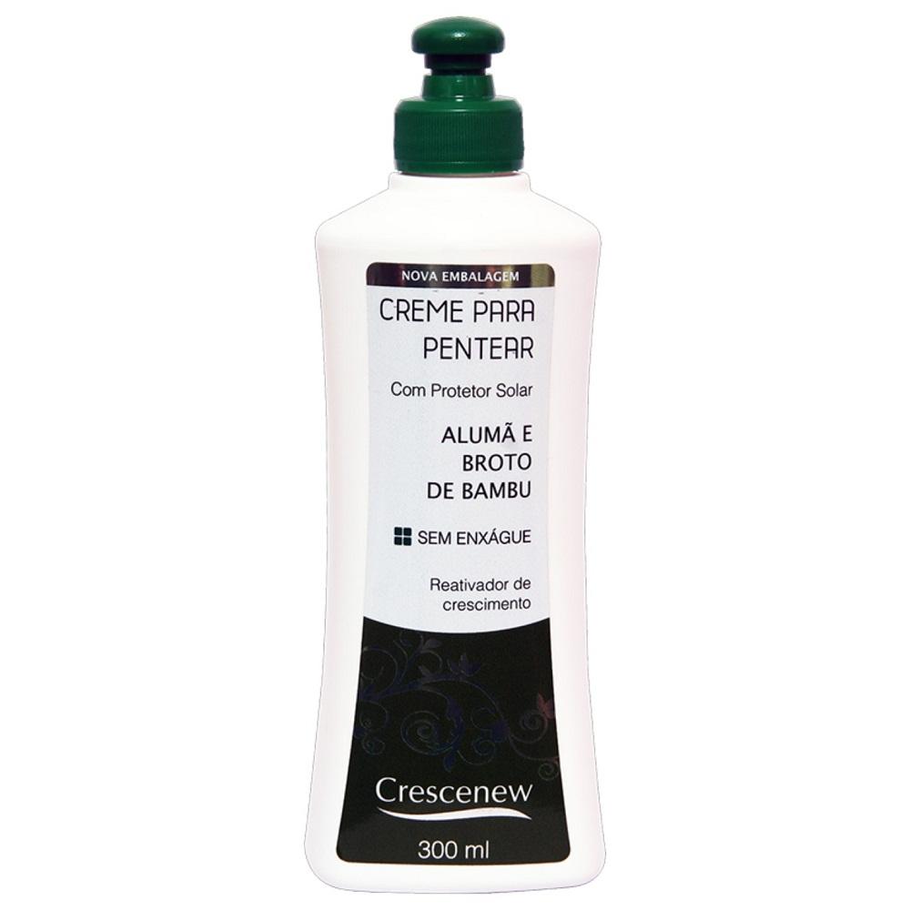 Kit shampoo e creme de pentear antiqueda jaborandi alumã broto de bambu