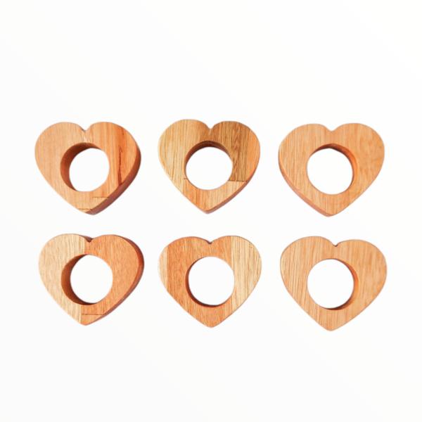 Conjunto 6 Porta Guardanapo Coração Linha Liptus