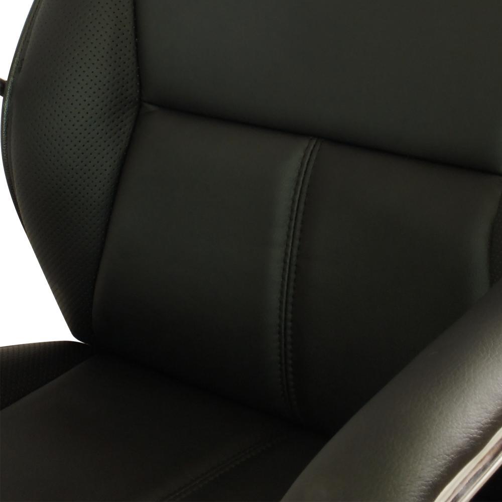 Cadeira Interlocutor em Couro PU PEL-8028V Preta