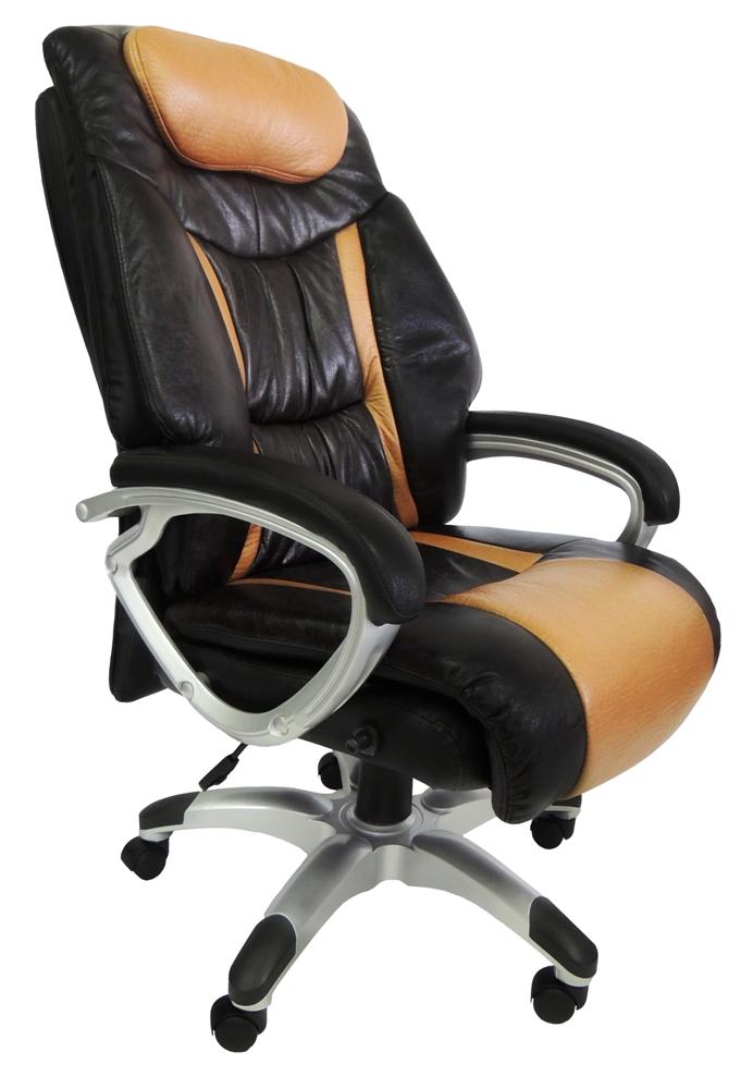 Cadeira Presidente em Couro PU PEL-9012 Marrom Reclinável